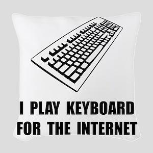 Keyboard Internet Woven Throw Pillow