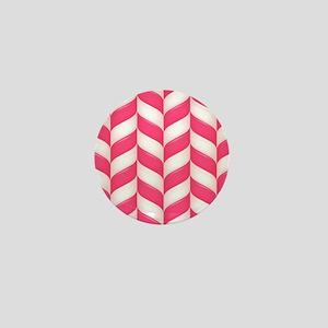 Candy Stripes Mini Button