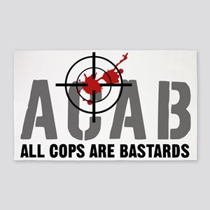 ALL COPS ARE BASTARDS 3'x5' Area Rug