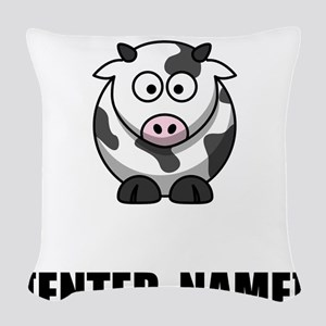Cow Personalize It! Woven Throw Pillow