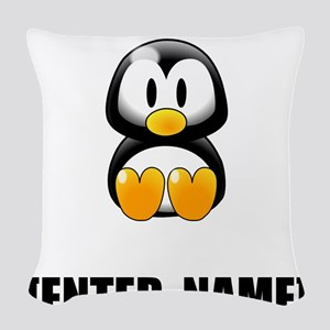 Penguin Personalize It! Woven Throw Pillow