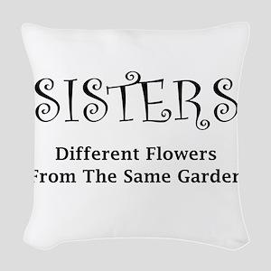 Sisters Garden Woven Throw Pillow