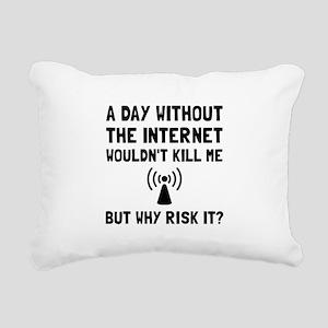 Risk It Internet Rectangular Canvas Pillow