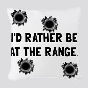 Gun Range Woven Throw Pillow