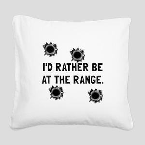 Gun Range Square Canvas Pillow