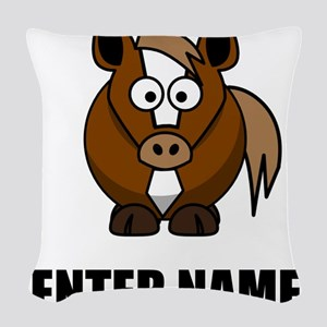 Horse Personalize It! Woven Throw Pillow