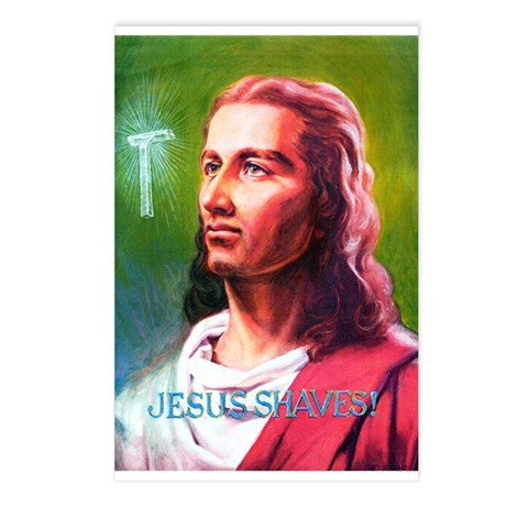 Jesus Shaves! Postcards (Package of 8)