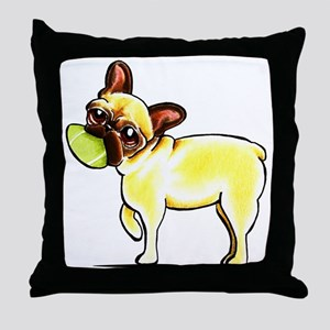 Sporty Frenchie Throw Pillow