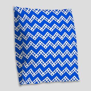 Dog Bone Chevron BLUE Burlap Throw Pillow