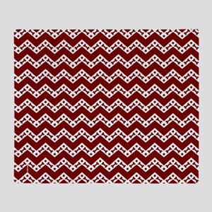 Dog Bone Chevron GARNET Throw Blanket
