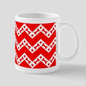 Dog Bone Chevron RED Mug