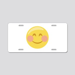 Smiley Face Emoticon Aluminum License Plate
