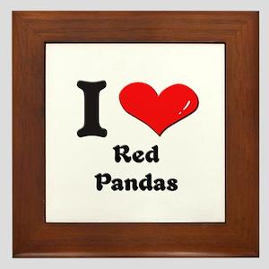 I love red pandas  Framed Tile