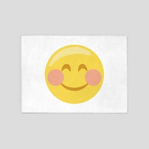Smiley Face Emoticon 5'x7'Area Rug