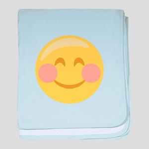 Smiley Face Emoticon baby blanket