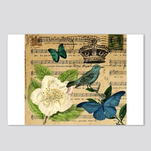 paris rose butterfly music notes jubilee Postcards