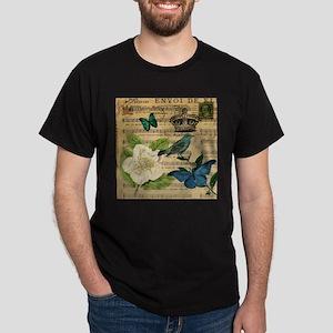 paris rose butterfly music notes jubilee T-Shirt