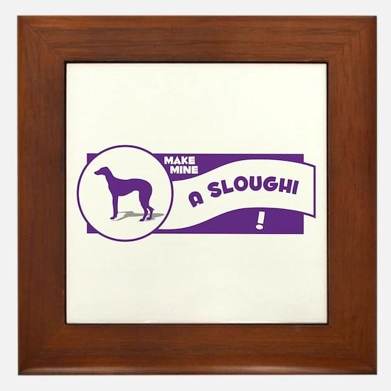 Make Mine Sloughi Framed Tile