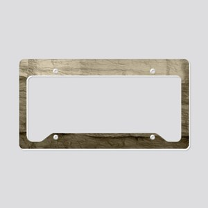 Faux Crumpled Texture License Plate Holder
