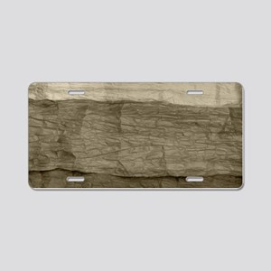 Faux Crumpled Texture Aluminum License Plate