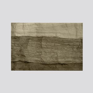 Faux Crumpled Texture Rectangle Magnet