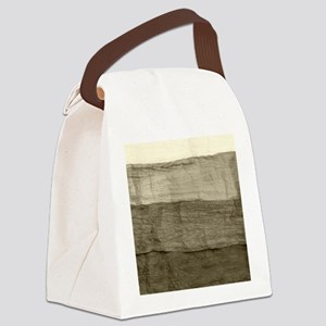 Faux Crumpled Texture Canvas Lunch Bag