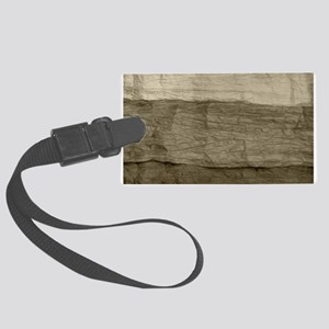 Faux Crumpled Texture Large Luggage Tag