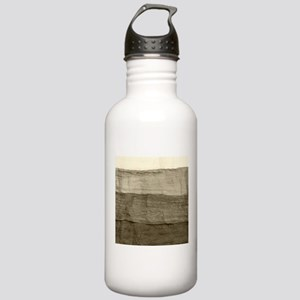 Faux Crumpled Texture Stainless Water Bottle 1.0L