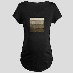 Faux Crumpled Texture Maternity Dark T-Shirt