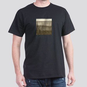 Faux Crumpled Texture Dark T-Shirt