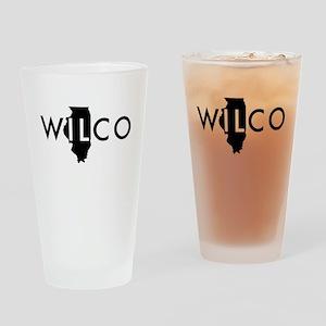 Wilco black Drinking Glass