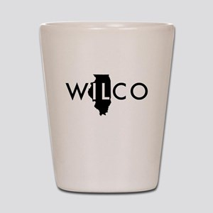 Wilco black Shot Glass