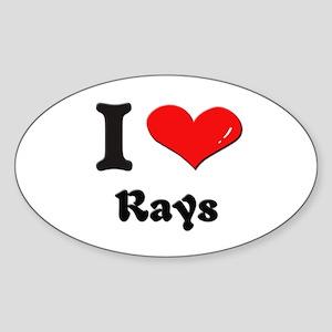 I love rays Oval Sticker
