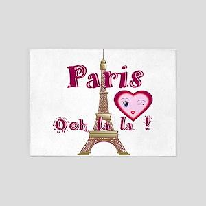 Ooh la la Paris France 5'x7'Area Rug