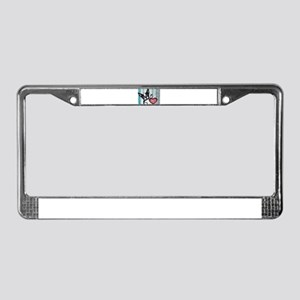 Boston Terrier Heart License Plate Frame