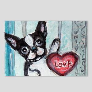 Boston Terrier Heart Postcards (Package of 8)