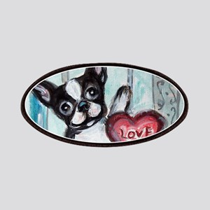 Boston Terrier Heart Patches
