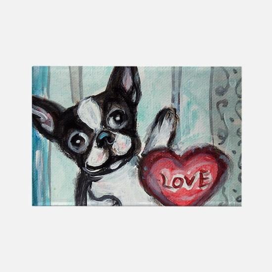 Boston Terrier Heart Magnets