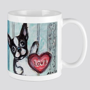 Boston Terrier Heart Mugs