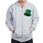 Leprechaun Hat with Shamrock Zip Hoody