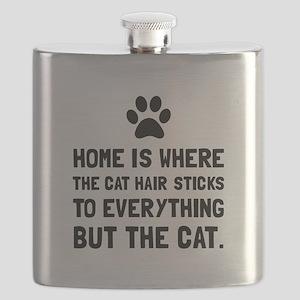 Cat Hairs Sticks Flask