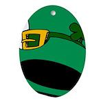 Leprechaun Hat with Shamrock Ornament (Oval)
