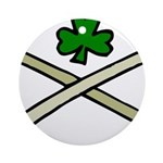 Shamrock and Pipes Ornament (Round)