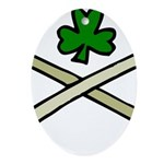 Shamrock and Pipes Ornament (Oval)