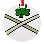 Shamrock and Pipes Round Ornament