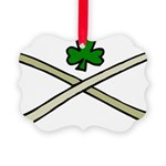 Shamrock and Pipes Picture Ornament