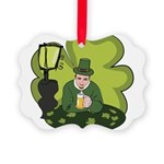 St Patricks Day Man with Beer Picture Ornament