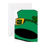 Leprechaun Hat with Shamrock Greeting Cards