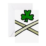 Shamrock and Pipes Greeting Cards