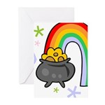 Rainbow with Crock of Gold Greeting Cards